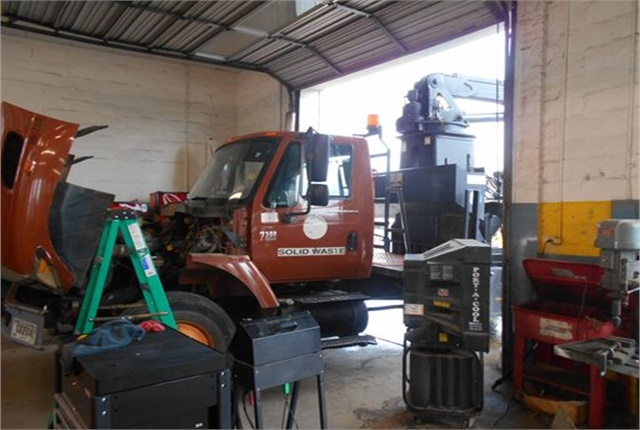 Large equipment sometimes have a hard time fitting inside the repair bays. Photo courtesy of City of Albany
