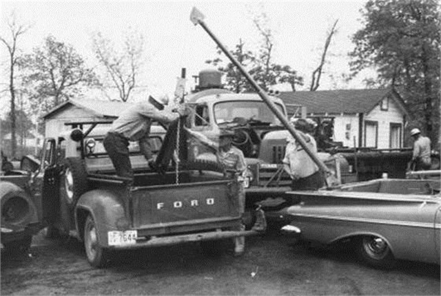 Pictured is an Auto Crane on an El Camino. Photo courtesy of Auto Crane.