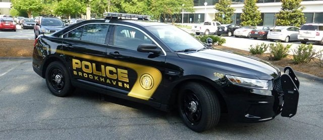 The City of Brookhaven unveiled its new police cars on July 9. Photo courtesy of the City of Brookhaven.