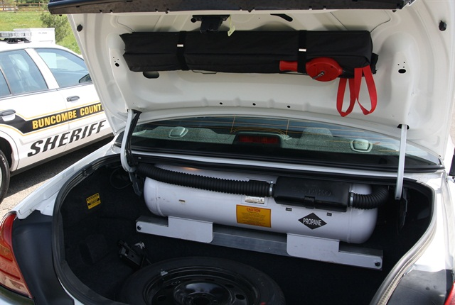 The bi-fuel vehicles allow officers to easily switch from gasoline to propane autogas.