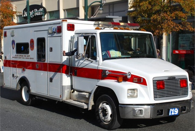 Photo of MCFRS Silver Spring ambulance via Adam Fagen/Flickr.