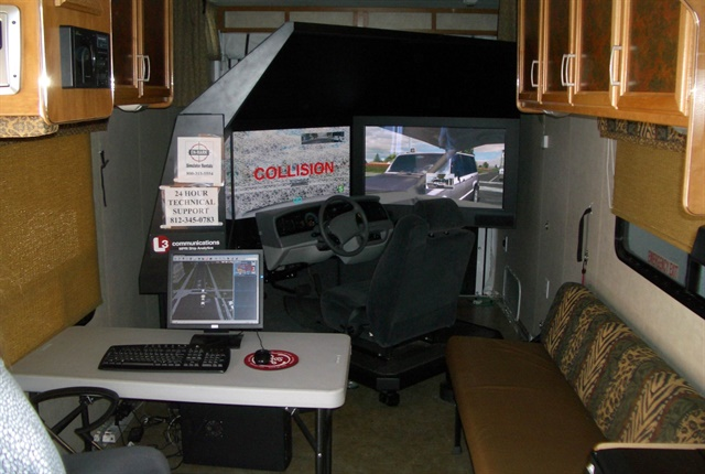 Photo of an En-Mark driving simulator courtesy of En-Mark Simulator Rentals
