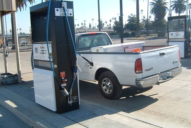 Municipal CNG fueling station in Riverside, Calif. Photo: GF file