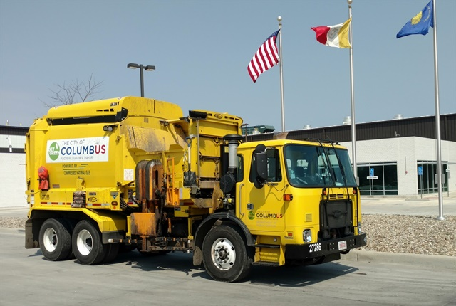The City of Columbus will add 16 more CNG refuse trucks to its fleet. Photo courtesy of City of Columbus