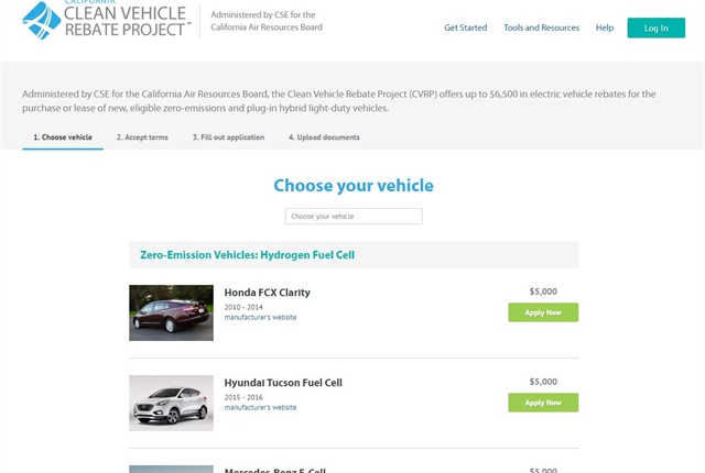 Screencapture Of Www Cleanvehiclerebate Org
