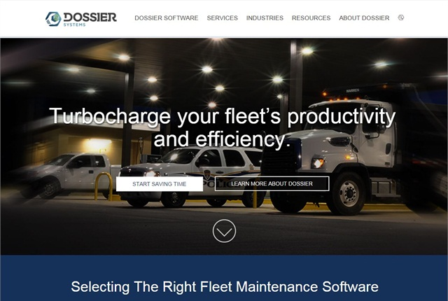 Screencapture of dossiersystemsinc.com