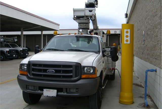 Pictured is one of the trucks equipped with a diesel particulate filter. Photo courtesy of the City of Santa Ana.