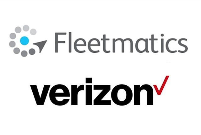 Logos courtesy of Verizon and Fleetmatics.