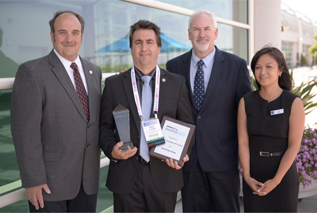 Paul Condran (second on left) won the Public Sector Fleet Manager of the Year. Photo by Vince Taroc.