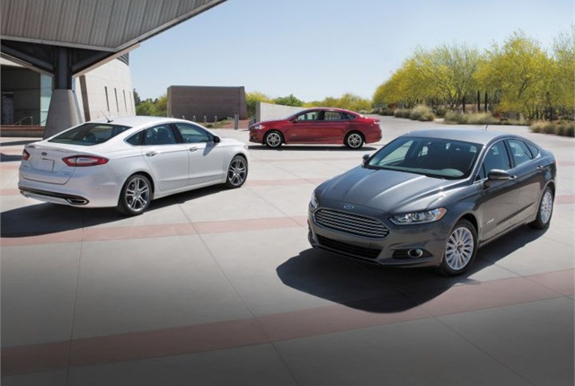 Photo 2015 Fusion Hybrid cars courtesy of Ford.