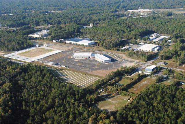 The Gainesville consolidated fleet maintenance building is44,000 square feet and has 30 bays.
