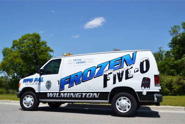 Photo of the Wilmington Police Department's ice cream truck courtesy of Wilminton PD
