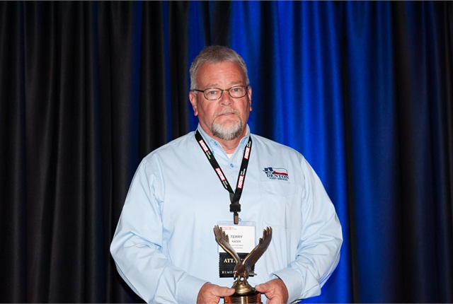 Terry Kader, fleet superintendent, City of Denton, Texas, was named the 2014 Fleet Professional of the Year. Photo courtesy of RMFMA.