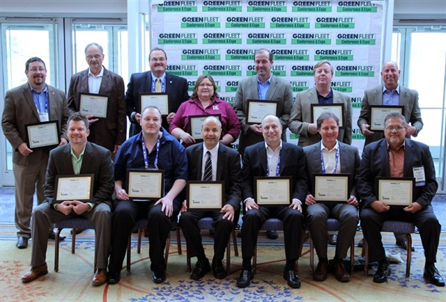 Pictured are the Sustainability All Stars present at the Green Fleet Conference.