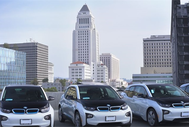 Photo of BMW i3 hatchbacks courtesy of City of Los Angeles
