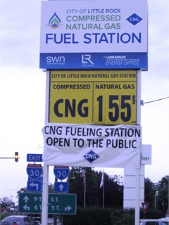 Fuel being sold to the public costs $1.55 per gasoline gallon equivalent. Photo courtesy of City of Little Rock