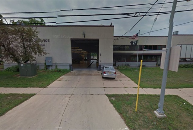The city's main fleet shop was built in 1954. Photo via Google Street View