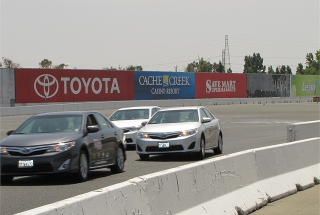 During lunch, attendees will get to ride with a professional racecar driver at the Sonoma Raceway. Photo courtesy of MEMA