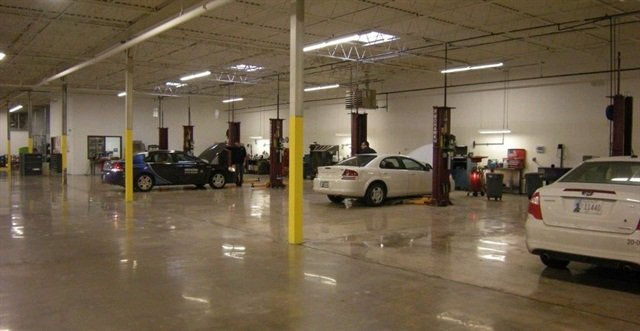 Photo of the Office of Management and Enterprise Services fleet facility courtesy of State of Oklahoma.