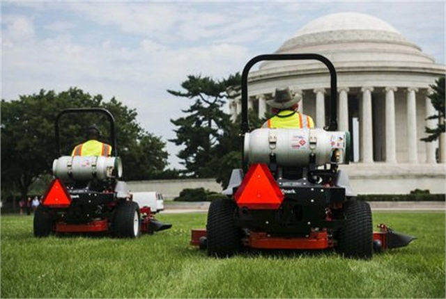 Each mower will reduce greenhouse gas emissions on the Mall by 50% per mower, according to PERC. Photo by Amanda Voisard