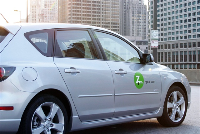 The proposal is considering Zipcar as one car sharing company. Photo via Zipcar