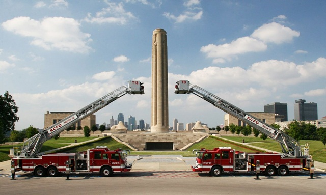 Photo of two of the Kansas City Fire Department's Pierce apparatus courtesy of Pierce.