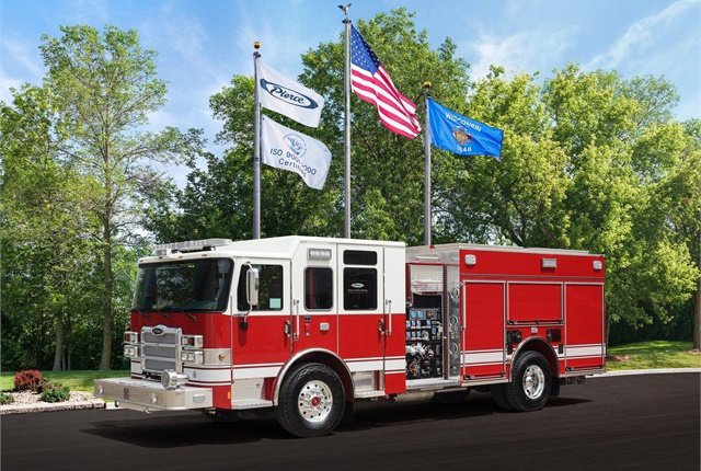 Photo of Pierce Enforcer pumper truck courtesy of Pierce