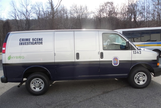 Photo of a Prince George's County cargo van with XL3 Hybrid Electric Drive System courtesy of XL Hybrids.