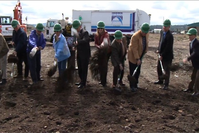 City officials held a groundbreaking ceremony on April 25. Screencapture via City of Spokane.