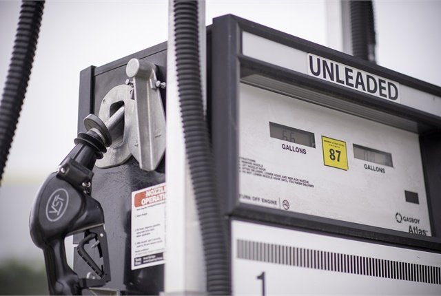 File photo of unleaded gasoline dispenser