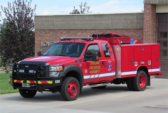 Photo of an F-550 fire truck via Wikimedia/Greg Goebel