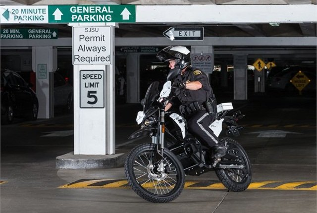 Photo of 2015 Zero police motorcycle courtesy of Zero Motorcycles.