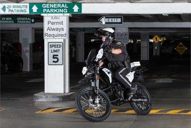 Photo of 2015 Zero police motorcycle courtesy of Zero Motorcycles.