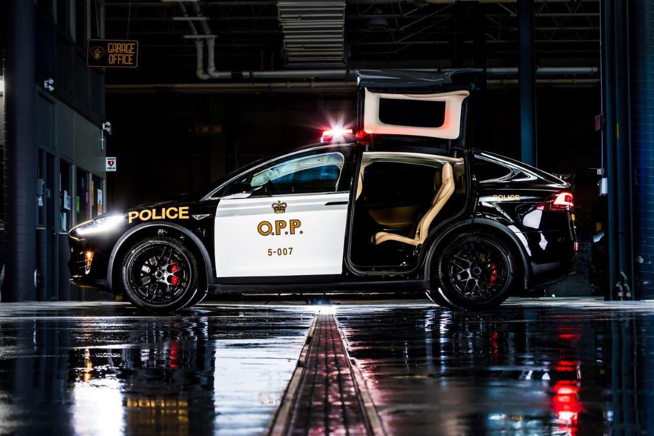 Ontario Police Showcases Tesla Patrol Car Prototype Police