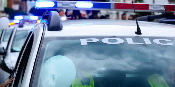 Photo of a police car via Pixabay