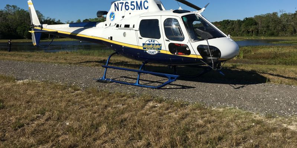 Photo of an Airbus H125 helicopter from the Lee County Mosquito Control District fleet courtesy...