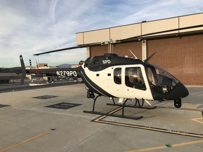 Bell Helicopter delivered the first Bell 505 Jet Ranger X configurated for law enforcement. - Photo courtesy of Bell Helicopter