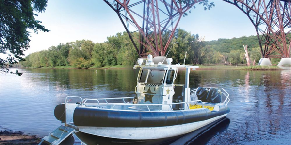 The St. Croix County Sheriff's Office took delivery of this custom-built boat from Lake Assault...