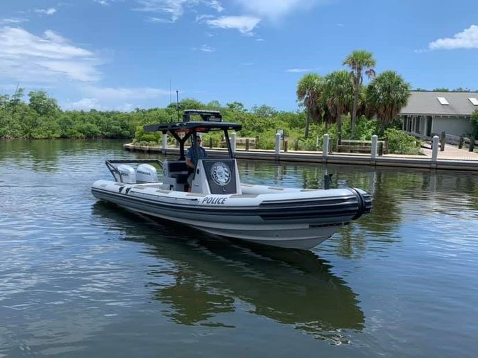 The 29-foot rigid inflatable boat was custom-built for the Aventura Police Department