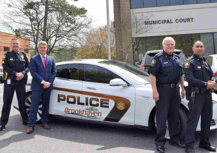 The City of Brookhaven, Ga., purchased the2015 Tesla Model S earlier this year.  - Photo courtesy of City of Brookhaven