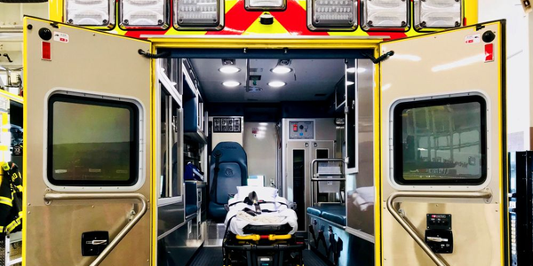 Code 3's Patient Compartment Lights disinfect the ambulance compartment while the vehicle is...