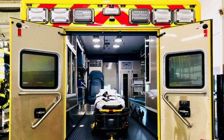 Code 3's Patient Compartment Lights disinfect the ambulance compartment while the vehicle is being driven.