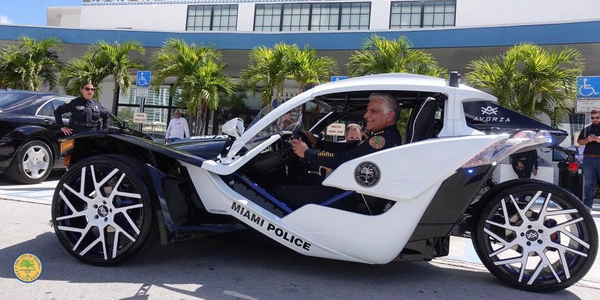 Miami PD Unveils 3-Wheel Police Vehicle