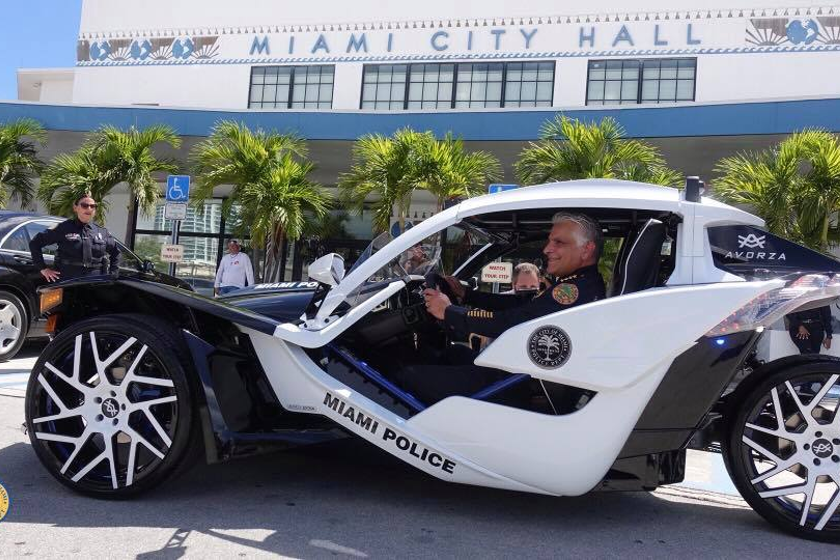 Miami PD Unveils 3-Wheel Police Vehicle