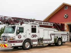 New Fire Truck Dons Texas A&M Colors