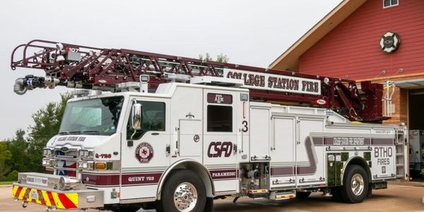 The truck serves the the City of College Station, home of Texas A&M University.