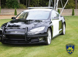 The Fremont (Calif.) Police Department acquired a 2014Tesla Model S, which is being equipped for police service.
