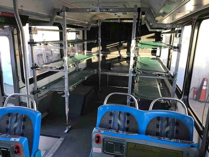 The vehicles areupfittedwith cots, air conditioning, emergency lighting, and custom department decals.  - Photo courtesy of Manatee County