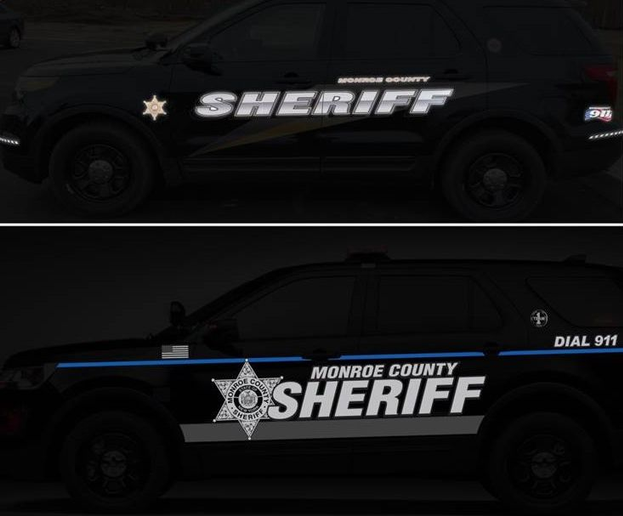 The new design (bottom) is brighter and easier to see at night than the previous design (top)
