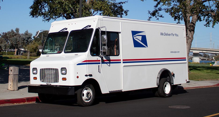 The U.S. Postal Service is testing battery-electric delivery vans based on the Ford E-450 and built on Motiv's EPIC chassis.